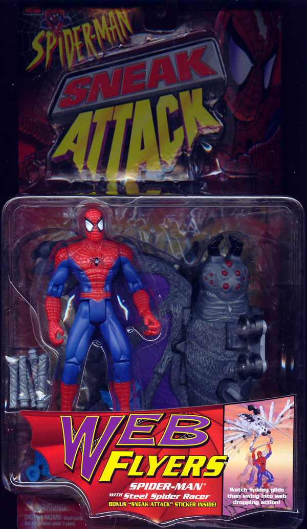 Spider-Man with Steel Spider Racer (Sneak Attack, Web Flyers)