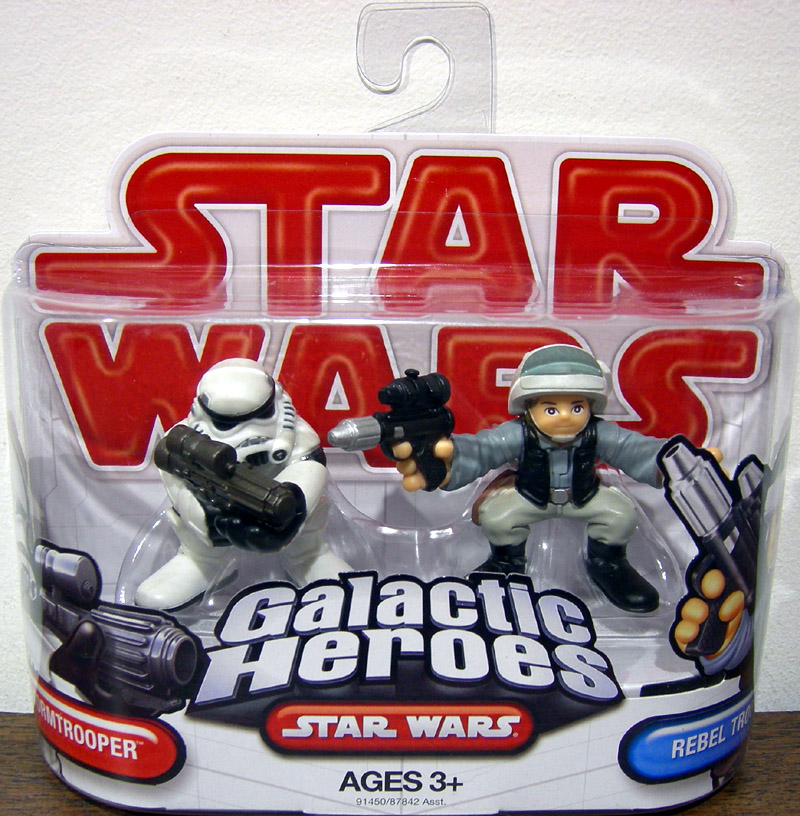 Stormtrooper & Rebel Trooper (Galactic Heroes)