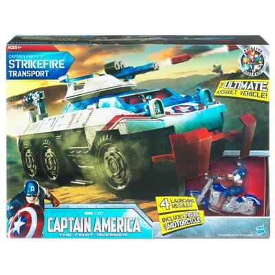 Strikefire Transport (with Captain America Figure & Motorcycle)