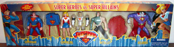 Super Heroes vs. Super Villains 4-Pack (Superman Animated)