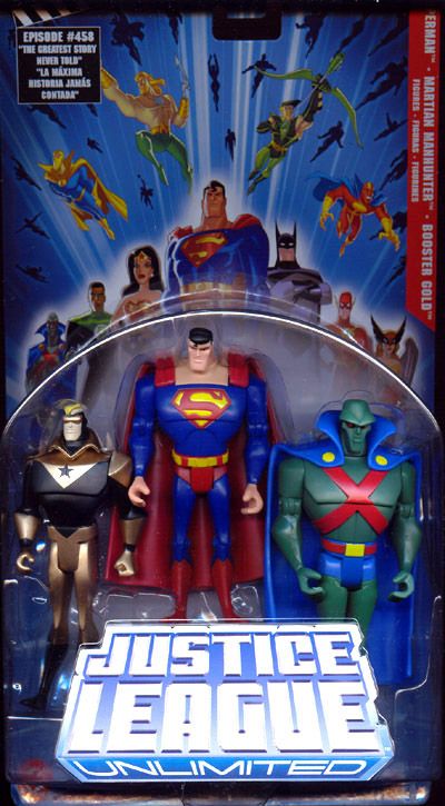 Superman, Martian Manhunter & Booster Gold 3-Pack (Justice League Unlimited)