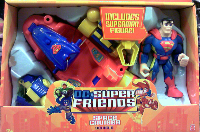 Superman Space Cruiser and Figure (DC Super Friends)