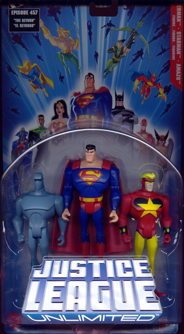 Superman, Starman & Amazo 3-Pack (Justice League Unlimited)
