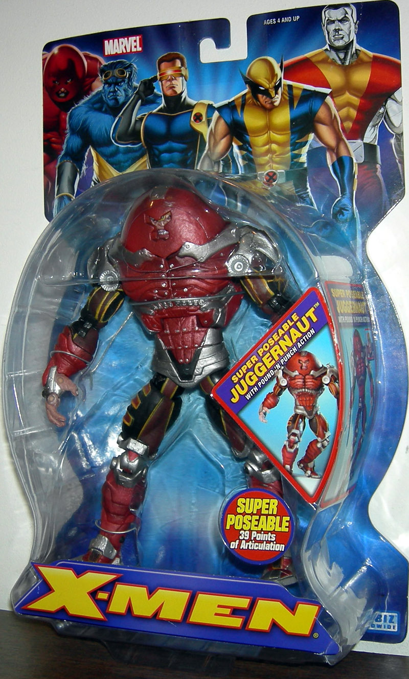 Super Poseable Juggernaut with Pound 'N Punch Action (X-Men)