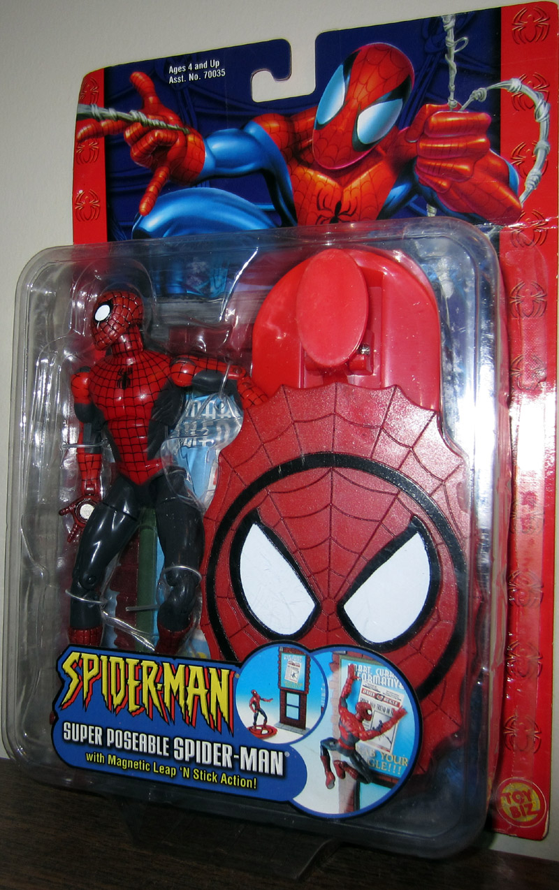 Super Poseable Spider-Man with magnetic leap n stick action