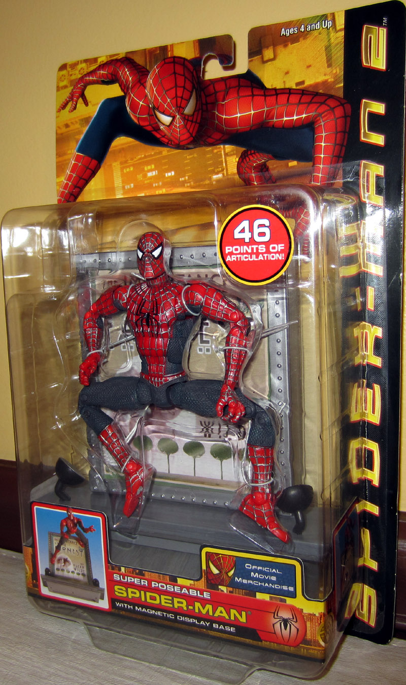 Super Poseable Spider-Man 2 (with magnetic display base)