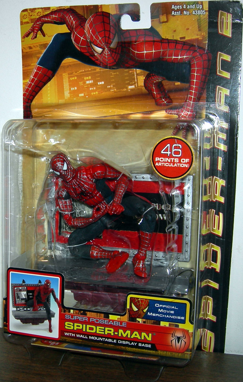 18 Inch Spider Man 2 Toy : Super poseable spider man figure wall mountable display base