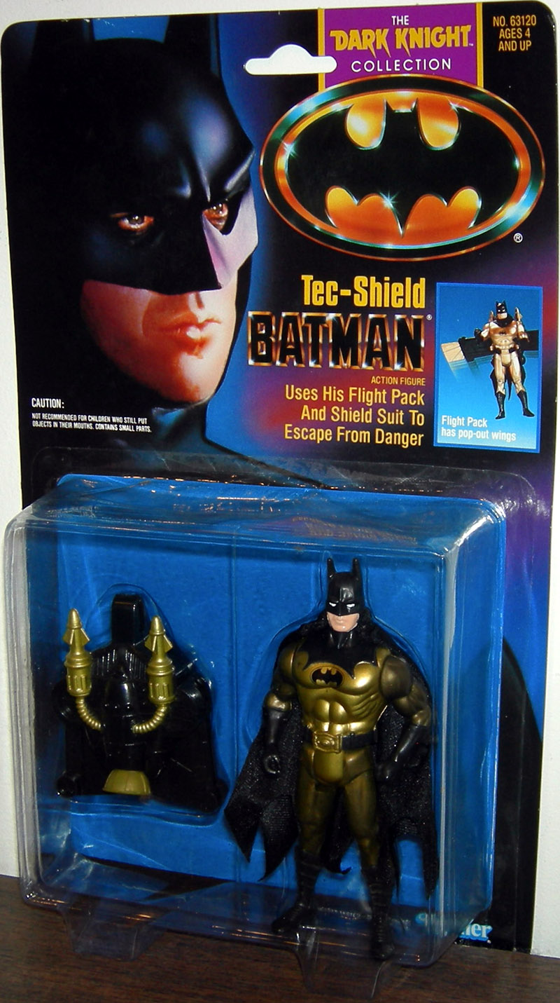 Tec-Shield Batman, gold pull (The Dark Knight Collection Movie)