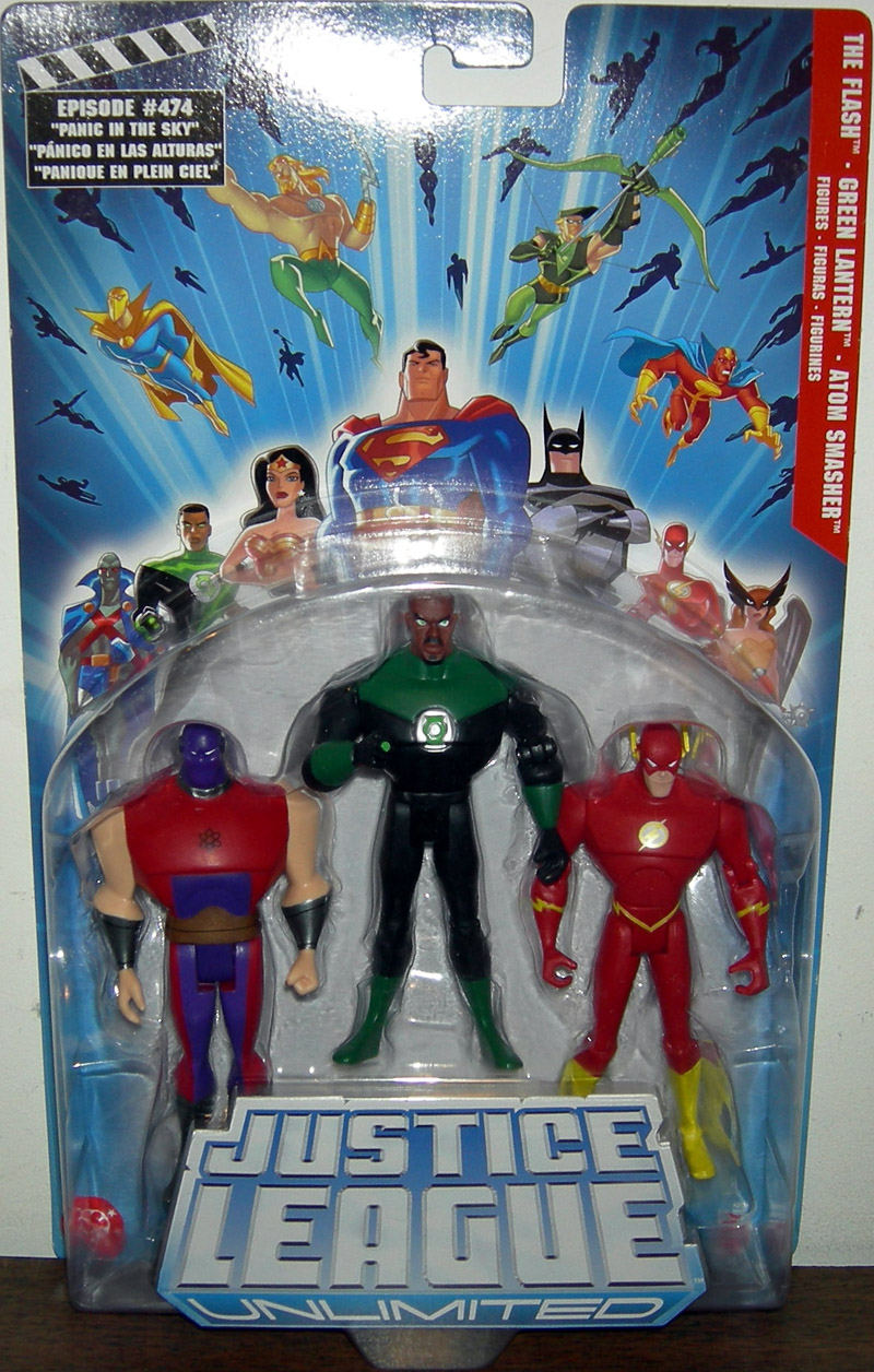 The Flash, Green Lantern & Atom Smasher 3-Pack (Justice League Unlimited)