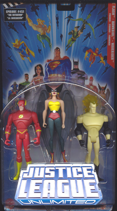 The Flash, Hawkgirl & Waverider 3-Pack (Justice League Unlimited)