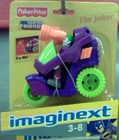 The Joker with vehicle (Imaginext)