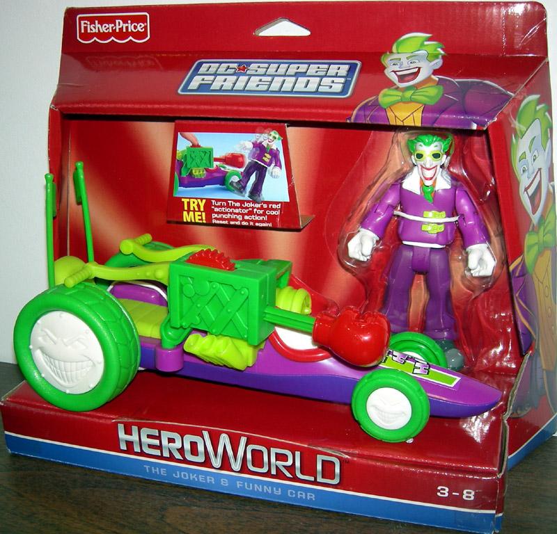 The Joker Funny Car DC Super Friends HeroWorld