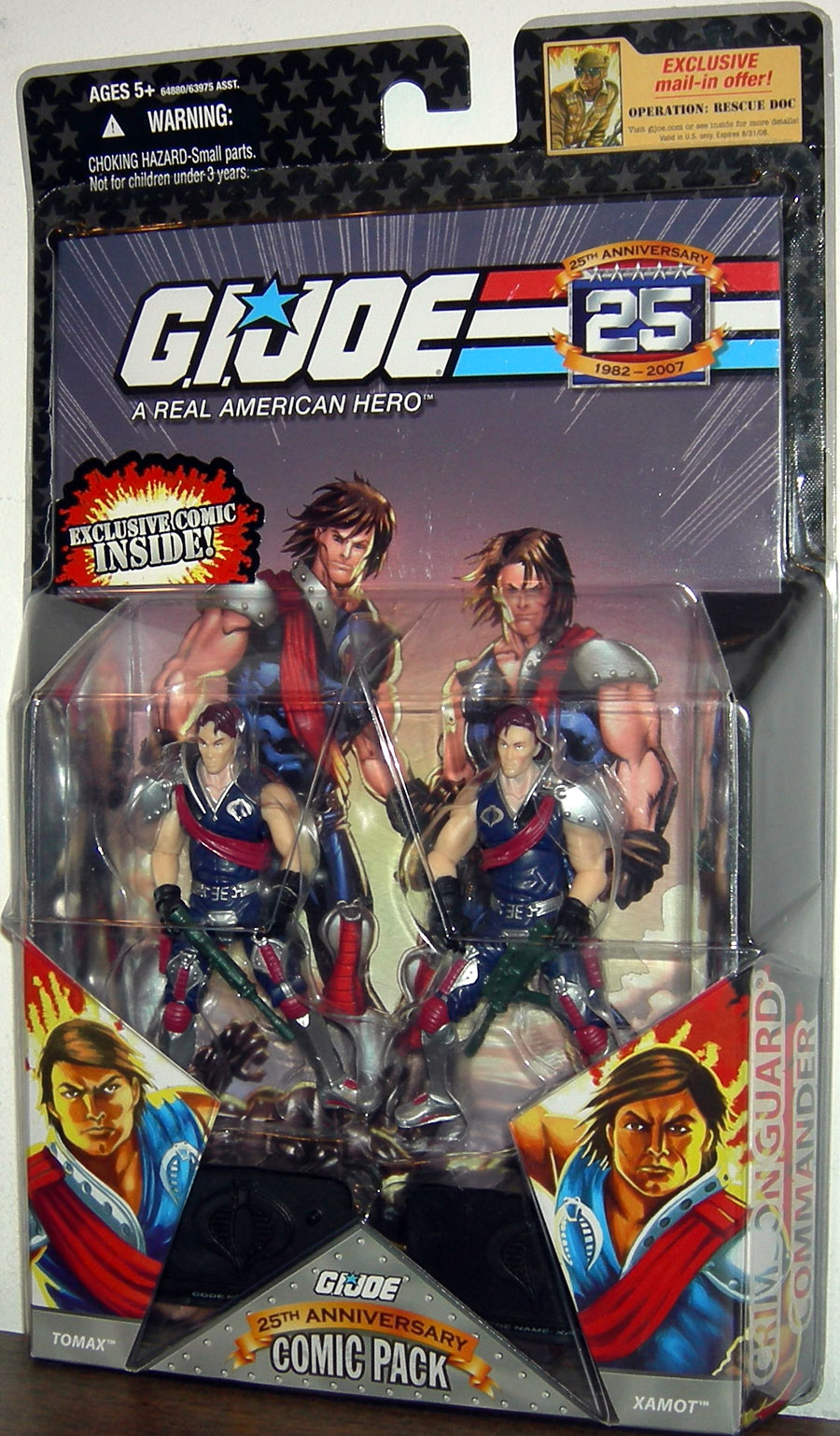 G.I. JOE 25th Anniversary Comic Pack: TOMAX and XAMOT
