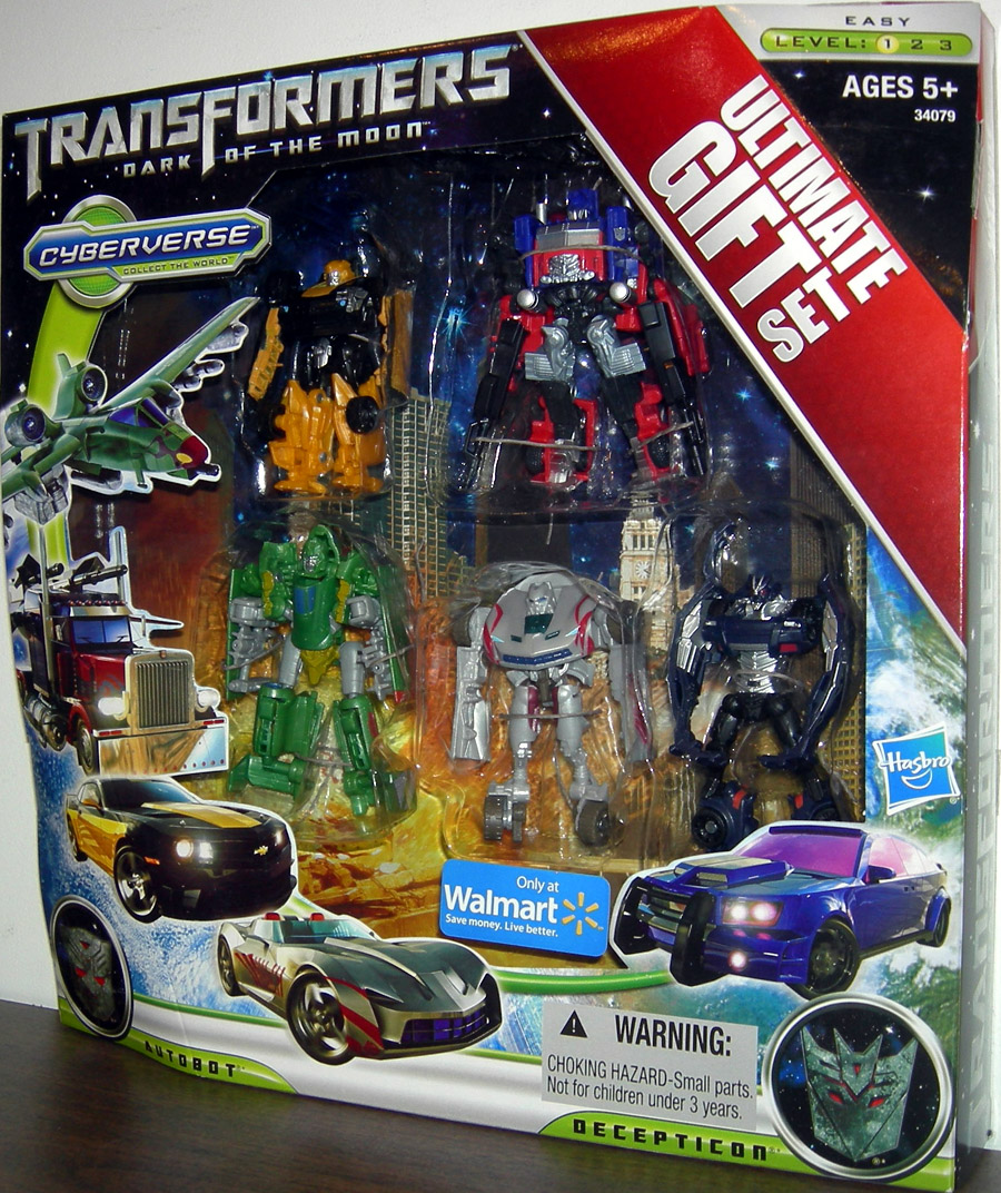 Transformers Dark Of The Moon Cyberverse Ultimate Gift Set (Walmart)