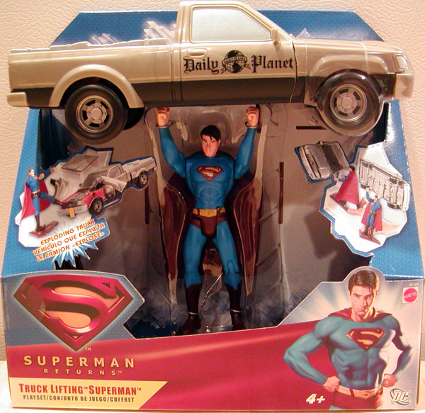 Buy A Truck >> Truck Lifting Superman Returns Movie Playset action figure