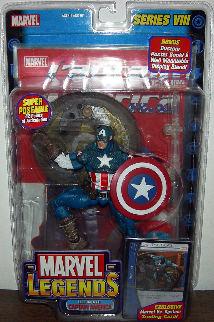 Ultimate Captain America (Marvel Legends, all blue legs)