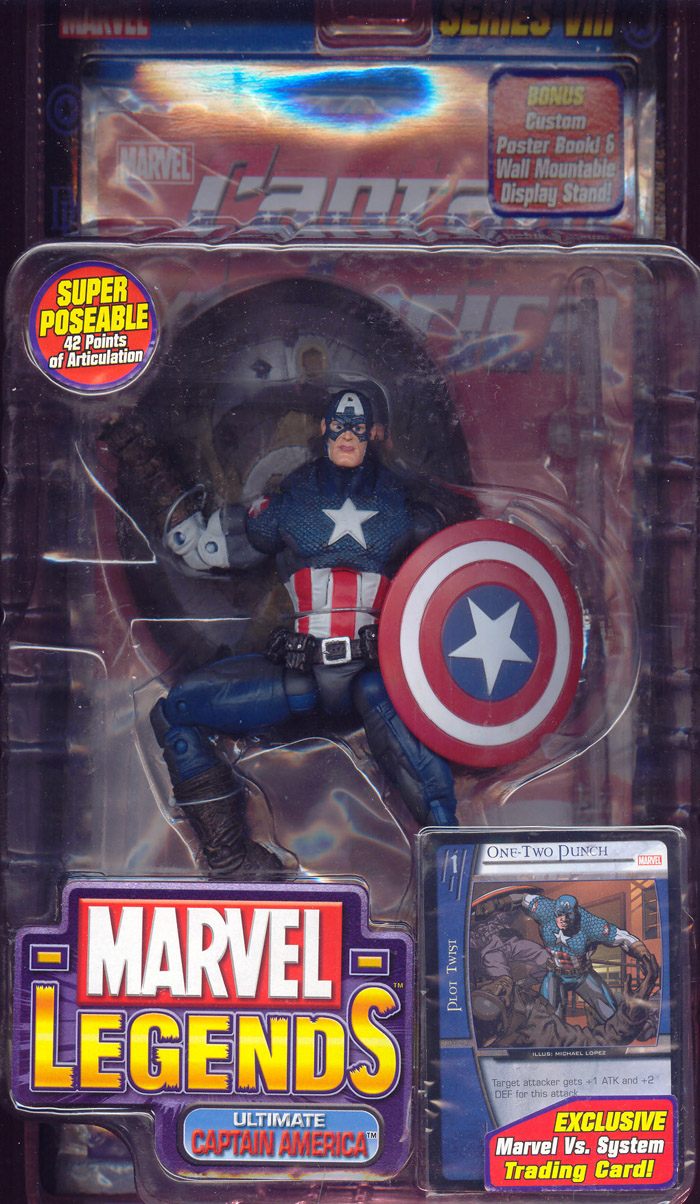 Ultimate Captain America (Marvel Legends, gray patches on legs)