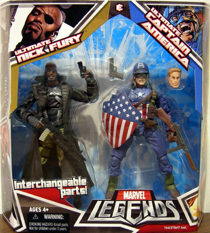 Ultimate Nick Fury & Ultimate Captain America (Marvel Legends)