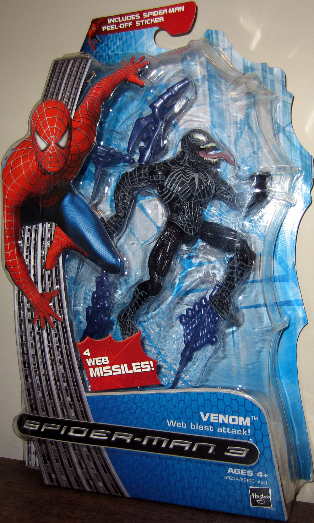 Venom with web blast attack (Spider-Man 3)