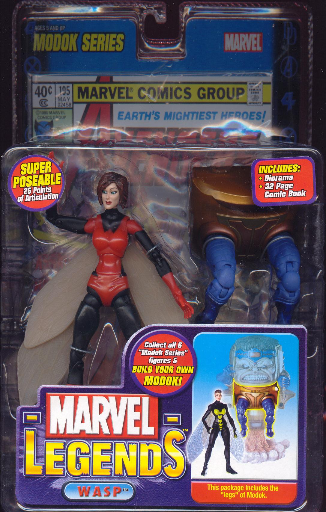 Wasp Marvel Legends Red Variant Modok Series Action Figure