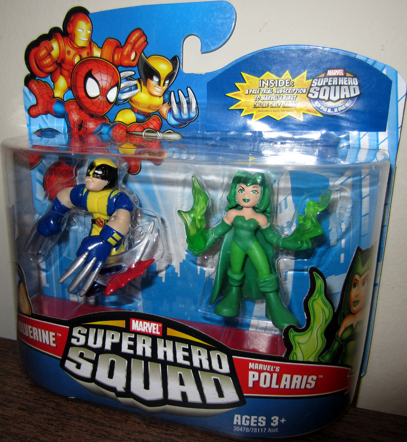Wolverine & Marvel's Polaris (Super Hero Squad)