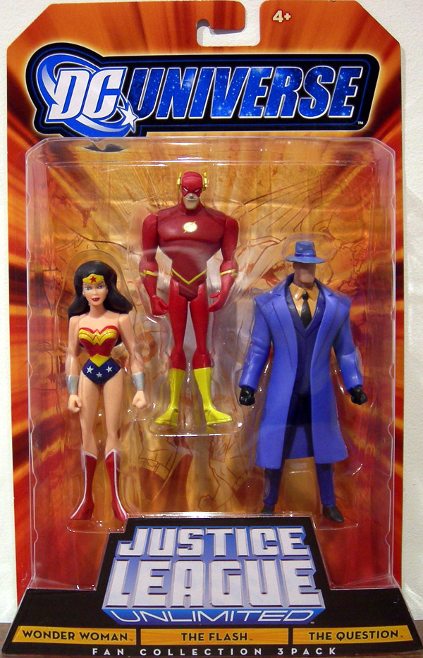 Wonder Woman, The Flash & The Question 3-Pack (DC Universe)